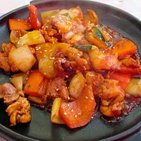 spicy chicken with vegetables