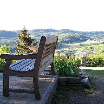 Parc Mont Saint-Louis, vue panoramique sur le village et le golf