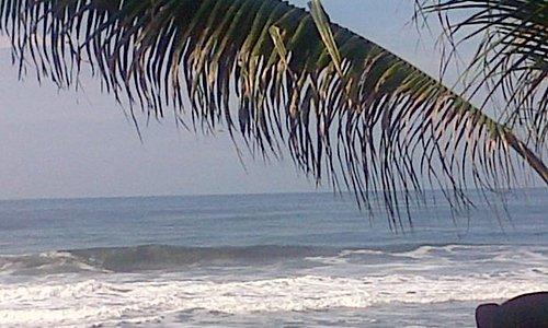 vista al mar desde el restaurante