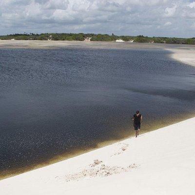 Lagoa na comunidade de Bethânia em Santo Amaro