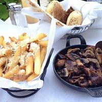 Roasted mushroom and Parmesan truffle fries