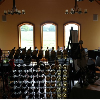 Inside the tasting room at Salem Glen Winery