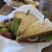 Maximillian--Roast beef, Swiss cheese, horseradish sauce on wheat