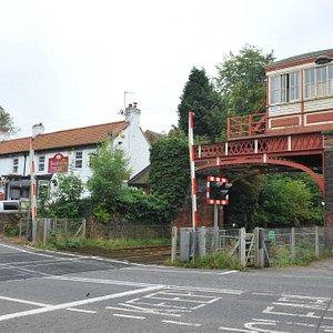 Wonderful pub and signal box
