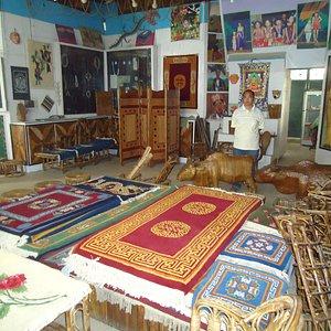 Carpets on display.