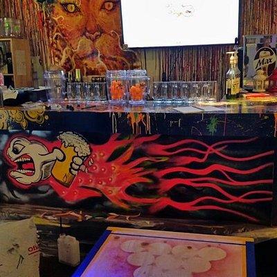 Beer pong pub in hongdae