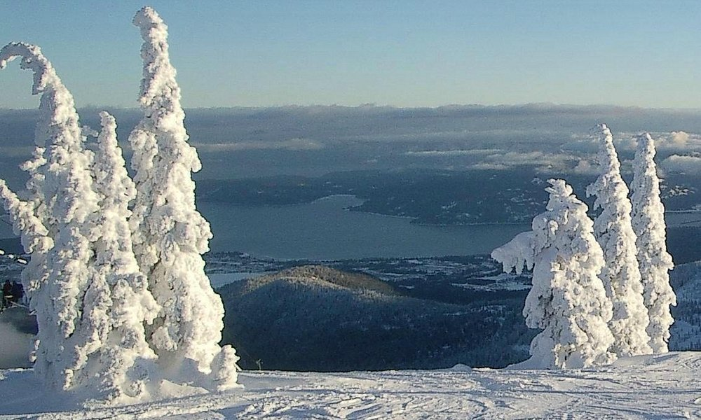 Top of the Pend Oreille run--fasten your safety belt