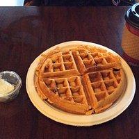fresh waffles and coffee