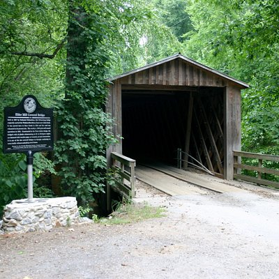 Built in 1897, Elder Mill Covered Bridge is one of only 13 functional covered bridges left in th