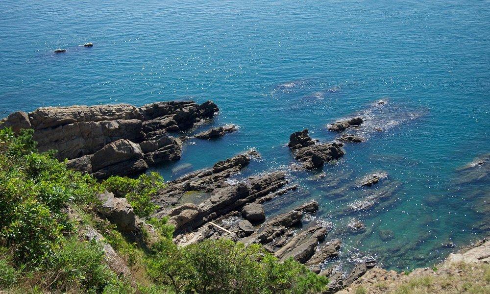 友ヶ島から海を見下ろす