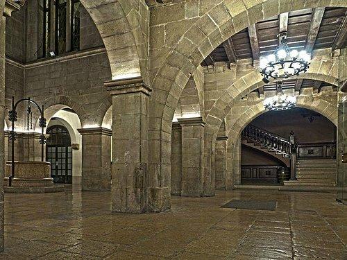 Patio del palacio de la Paeria