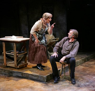 Amelia Broome and Christopher Chew in Sweeney Todd (Photo by Mark S. Howard)
