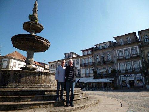 """Magnificent 17th century renaissance fountain at """"Largo de Camões"""" in Ponte de Lima"""
