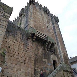 """The impressive """"Torre de Menagem"""" at the historical """"Castelo de Cháves"""" in Northern Portugal"""