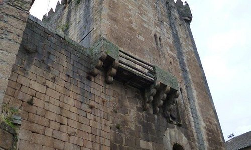 "The impressive ""Torre de Menagem"" at the historical ""Castelo de Cháves"" in Northern Portugal"