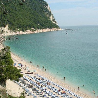 La spiaggia di S.Michele dal sentiero che la raggiunge