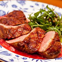 duck and roasted grape sauce
