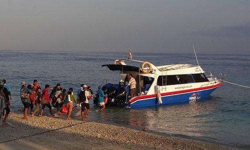Boarding at Nusa Penida for Sanur