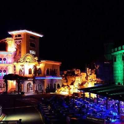 Ocean World night building where the Bravissimo Show take place