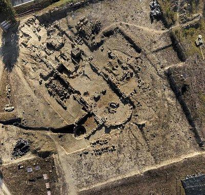 Foto aerea del cantiere archeologico