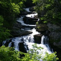 Callasja River Gorge, Highlands, NC, USA, July, 2013 as shot from roadside pull off