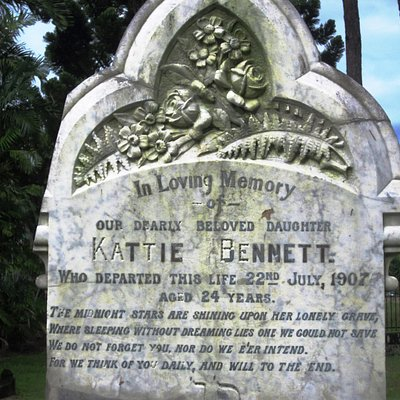 Beautiful old poetry on a young woman's tombstone