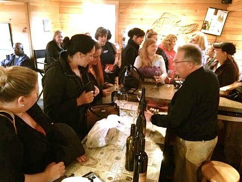 The tasting room was is cozy and fun!