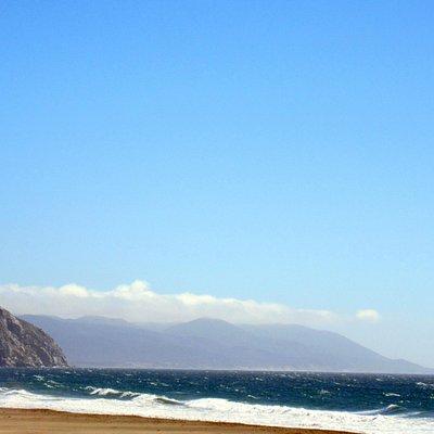 Morro Rock as seen from Morro Strand State Beach, Morro Bay, CA