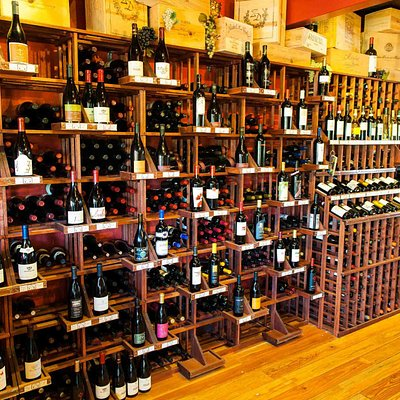 Over 300 different kinds of wines are offered from around the world.