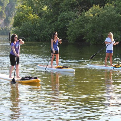 Group paddle on the Tennesse River