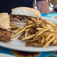 panéed pork sandwich
