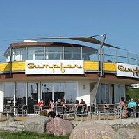 Café Gumpfer am Hafen von Sassnitz