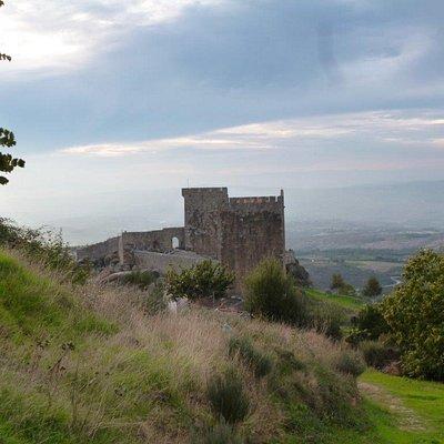 """Beautiful view of """"Castelo de Linhares da Beira"""" in Northern Portugal"""