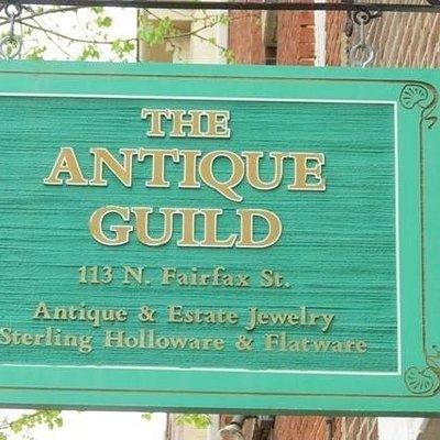 The Antique Guild of Alexandria, Va. Shop Sign