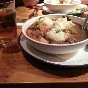Beef stew and Jameson!  Perfect on a chilly day.