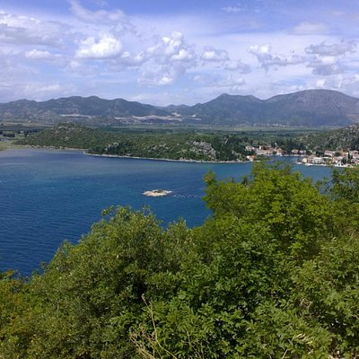 The beach of Neretva delta and the village of Blace