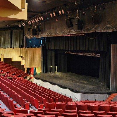 Vista del escenario sector A