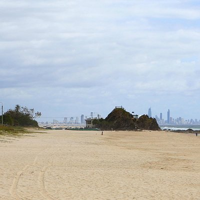 Elephant Rock with Surfers Paradise in the background