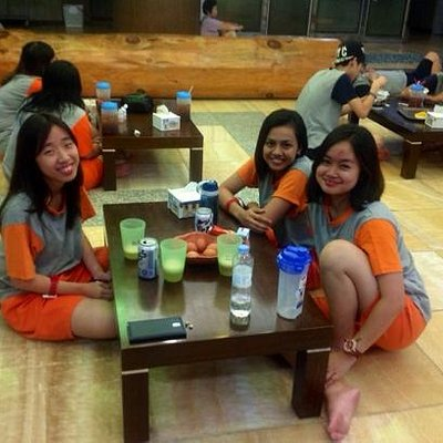 My friends and I having good time in Dongbangsak.