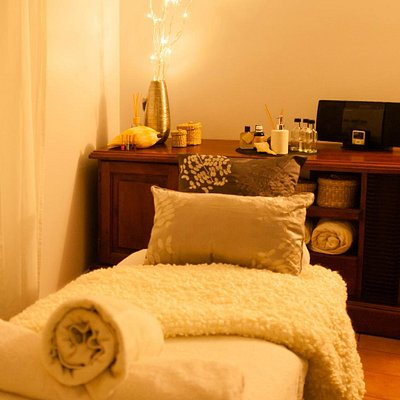Relax in our tranquil private treatment room.
