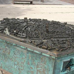 Model of Strasbourg in Place d'Austerlitz