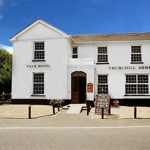Front of The Churchill Arms