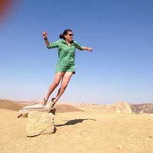 On top of the world in the negev