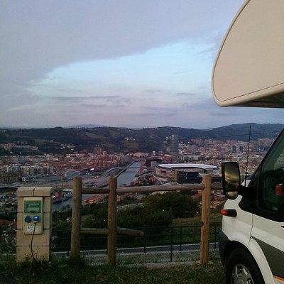 Vista de Bilbao desde el monte Koteta (Kobetamendi)