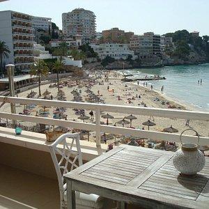 Vista de la Cala Mayor...maravillosa playa urbana