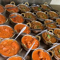 The awesome Butter chicken and delicious rigan josh ready to go..