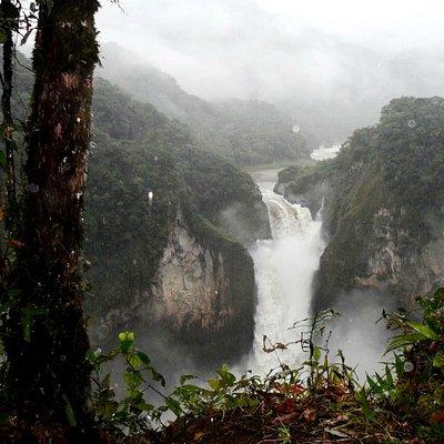 Cascada de San Rafael, vista desde el Mirador