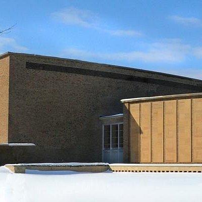 An exterior shot of Kleinhans Music Hall.