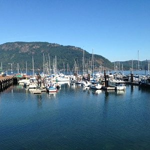 View from the Cowichan Bay Pub