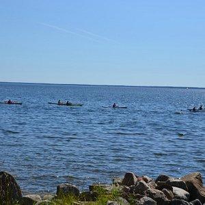 Kanoter vid Limöns Södra strand